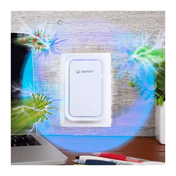 Clarifion - negative ion generator with highest output (1 pack) filterless mobile ionizer & travel air purifier, plug in… 2 for use in: bedrooms, corridors, bathrooms, living rooms, staircases, and other spaces/rooms. Removes bacteria & viruses | reduces allergens | relieves congestion | chemical free | helps reduce asthma | cleaner air eliminates dust, smog, smoke, allergens, pet dander, & bacteria to help keep air fresh & clean | smart design with led indication