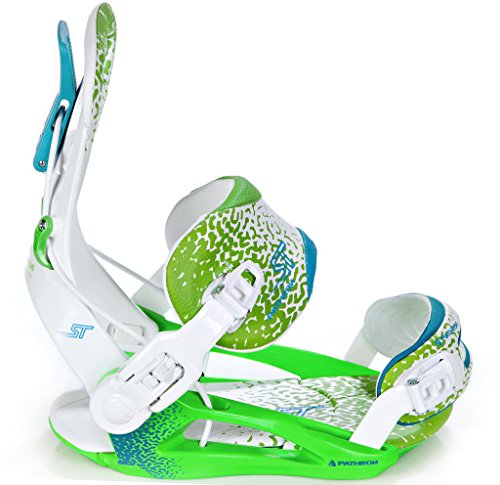 Pathron Snowboard Bindung Fastec Team ST White/Green/Blue (L(41-44))