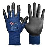 Paquete de 3 guantes de seguridad para trabajo con pantalla táctil azul marino,...