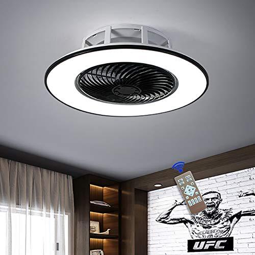 Ventilador de Techo LED con LUZ - Ventilador Súper Silencioso de 48W, 3 Temperaturas de Colores y 3 Velocidades del Viento Ajustables, Temporizador y Función de Inversión, Ø 56cm para Salón