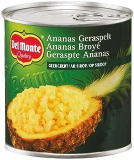 DEL MONTE Del Monte Ananas Geraspelt gezuckert , 6er Pack 6 x 446 ml Dose