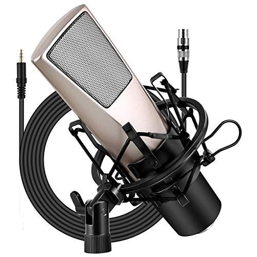 Diaod Teléfono móvil Conferencia de Voz Micrófono de Video Grabación de Anclaje K Micrófono de Condensador de canción con Soporte de Choque