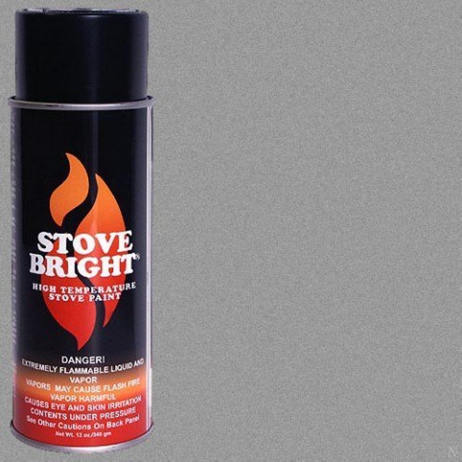 Stove Bright TI-8118 High Temperature Paint, 1200 Degree F Operating Temperature Range, 12 oz Aerosol, Metallic Gray