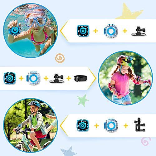 Ourlife, Kids Action, Kinder-Unterwasserkamera mit Videorecorder inklusive 8-GB-Speicherkarte, blau