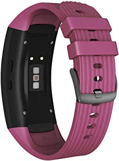 NotoCity Compatible Samsung Gear Fit2 Pro Band Solft Silicone Gear Fit2 Watch Strap for Samsung Gear Fit2 Pro Smartwatch Bands(Light Purple, Small)