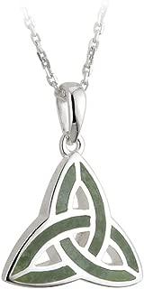Jewelry Irish Trinity Knot Necklace Silver & Connemara Marble 18
