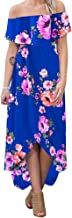 lexiart Women's Maxi Dresses Ruffle Plain Off Shoulder Floral Print Sexy Cocktail Bodycon Dresses S-5XL