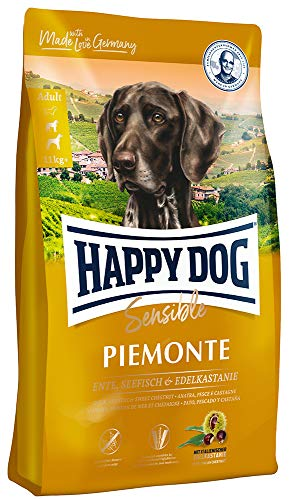 HAPPY DOG (ハッピードッグ) スプリーム ピエモンテ (栗、ダック&シーフィッシュ) グルテン、グレイン、ポテトフリー 中?大型犬用 アレルギーケア 成犬?シニア (10kg)