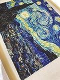 7 Stück 20 x 25 cm Baumwoll-Twill-Stoff bedruckt mit Van