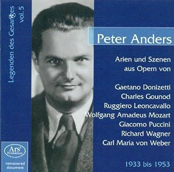 Legenden Des Gesanges, Vol. 5: Peter Anders (1933-1953)