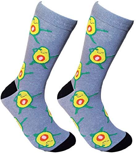 Avocado Socks Funny Meme Socks - Fun Socks For Women and Crazy Socks For Men Fruit Socks (Dabbing Avocado)
