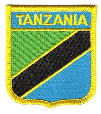 Wappen Aufnäher Patch Tansania Fahne Flagge NEU
