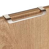 5 piezas Junker Design Tirador de Muebles LYS Distancia Agujeros 160 mm Acabado en Acero Fino Mate para Armarios, Cajones y Puertas