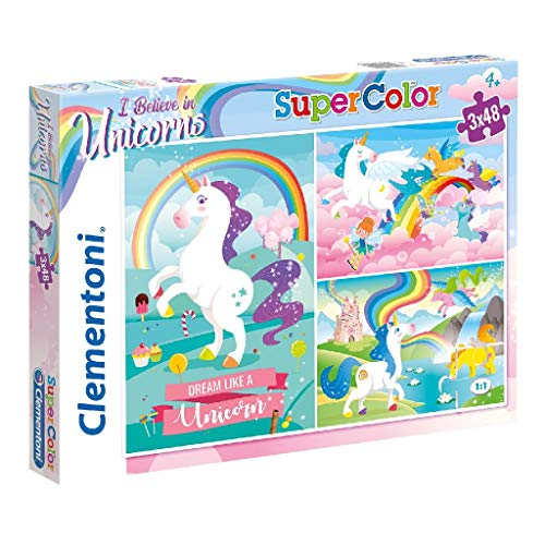 Clementoni- I Believe in Unicorns Conjunto De Puzzles, Multi