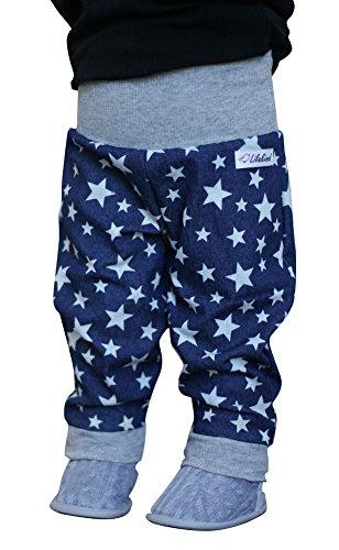 """Lilakind"""" Babyhose Mädchenhose Jungenhose Hose Jeans Blau Sternenmuster Blau Gr. 98/104- Made in Germany"""