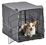 New World Double Door Dog Crate Kit   Dog Crate Kit Includes One Two-Door Dog Crate, Matching Gray Dog Bed & Gray Dog Crate Cover, 24-Inch Kit Ideal for Small Dog Breeds