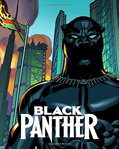 Black Panther: Comics, Superhero, Journal, Diary (130 Pages, 8' x 10', in lines with a margin), College Ruled, Composition Notebook, Cover Soft