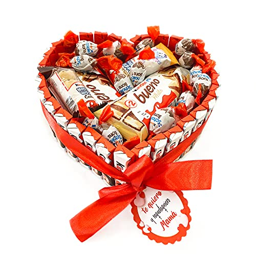 El regalo más original para el Día de la Madre. Tarta de chocolatinas hecha con los mejores kinder bueno.