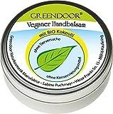 NUEVO Greendoor VEGETARIANO Bálsamo de mano con BIO Aceite coco, 75 ml, Cosmética natural sin...