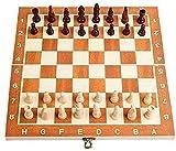WWJ Set di scacchi Scacchi scacchiera Internazionale Gioco di scacchi pieghevole da viaggio Set di scacchi portatile Set di scacchi Internazionale Gioco Regalo per Bambini Chil IOGP09