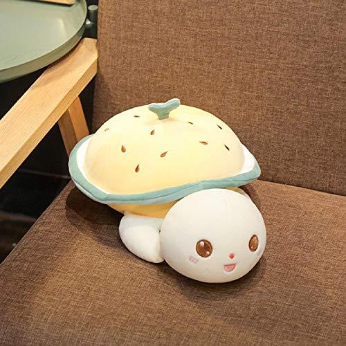 Xiaoahua Adorable Tortuga de Ojos Grandes Juguetes de Peluche Suave Animal de Peluche Almohada de Tortuga cojín Suave niños Lindo Regalo 50 cm Amarillo