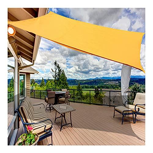 Toldo Vela de Sombra Impermeables Exterior, Toldo Vela Protección 98% Rayos UV Rectangular Toldo Parasol 2x2m, 3x5m, para Patio, Exteriores, Jardín, Terraza(Size:3X4M/9.8X13.1FT)