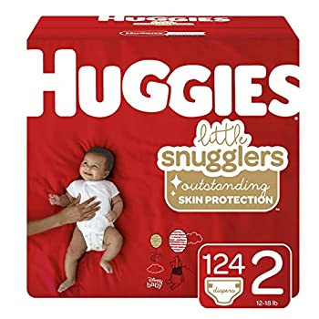 Huggies Little Snugglers Baby Diapers Size 2 124 Ct