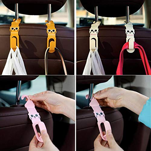 GUOJIAYI 2 Pieces/Car Rear Seat Hanger Storage Hook Auto Accessories Sundries Hanger Storage Rack Auto Fasteners and Clips