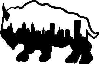 hBARSCI Buffalo & City Skyline Vinyl Decal - 5 Inches - for Cars, Trucks, Windows, Laptops, Tablets, Outdoor-Grade 2.5mil Thick Vinyl - Black