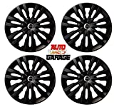 Hotwheelz Sporty Twin Color 14-inch Wheel Cover with Rings (Matte Black) -Set of