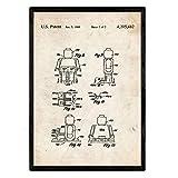 Nacnic Poster Patent Lego Menschliche Figur. Blatt mit