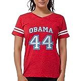 CafePress Obama 44 T Shirt Womens Football Shirt Red