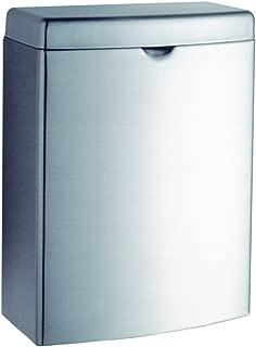 Bobrick Contura Surface-Mount Stainless-Steel Sanitary Napkin Receptacle, 1 Gallon, 10