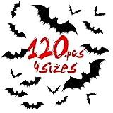 UMIPUBO - 60/120 pegatinas para Halloween, decoración de pared, ventanas, fiestas, casa, tienda, pared de cristal