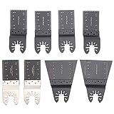 Leyeet 8 piezas de acero de alto carbono universal hojas de sierra oscilantes accesorios multiherramienta