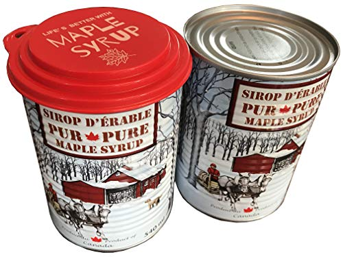 Maragos 2X Pure Maple Syrup Can With Closable Lid, The Best Maple Syrup For Pancakes