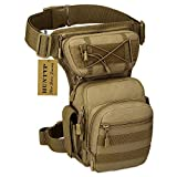 Huntvp Taktisch Beintasche Militär Beinbeutel MOLLE Hüfttasche Sport Tactical Leg Bag Armee...
