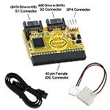 Bipra Disque Dur SATA/IDE bi-directionnel Convertisseur (Connect IDE Drive to SATA...