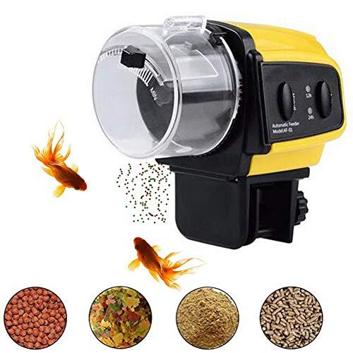 YUNDING Automatische Fischfütterung Feuchtigkeitsbeständig Automatische Aquarienfischfütterung Urlaubstimer Fischfutterspender für Aquarium oder Aquarium 50g
