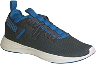 PUMA Men's Throttle Running Shoes Asphalt/Indigo Bunting White