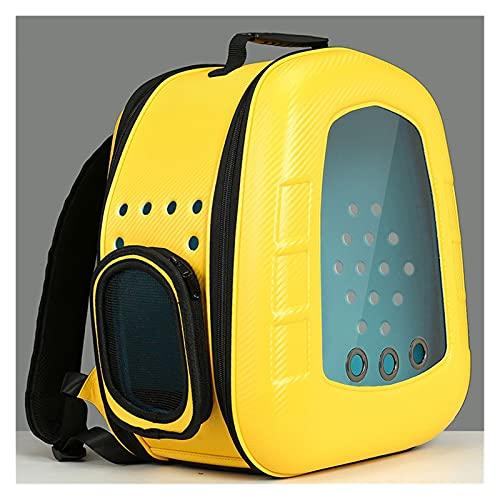 DEYUCHANG Zaino per Cani Space Capsule Pet Bag Ventilato Trasparente Transparent Pet Zaino Viaggio a Mani libere Viaggi a Mani libere Approvato (Color : Yellow)