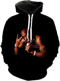 Chiclook Cool Men Hip Hop Hooded Rapper 2pac Tupac Hoodies Sweatshirt Pullover Streetwear