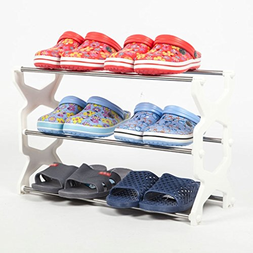 ZZYE Zapatero Zapatillas Almacenamiento de gabinetes de Acero Inoxidable Muebles de Muebles Organizador de Zapatos Estantes (Blanco) 56 * 20 * 34 cm Perchero Zapatero