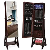 Best Jewelry Armoires - SONGMICS 8 LEDs Jewelry Cabinet Armoire with Beveled Review