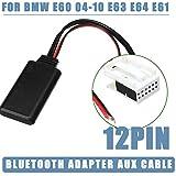 housesweet Módulo de Audio para Coche con Bluetooth, Radio estéreo, Receptor Bluetooth, Adaptador de Cable Auxiliar para BMW E60 04-10 E63 E64