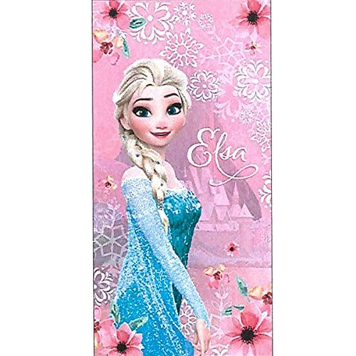 Disney Princesa Frozen Elsa Toalla de Playa de algodón Talla 140 x 70 cm