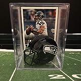 Seattle Seahawks NFL Helmet Shadowbox w/Russell Wilson card
