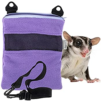 LAMBIE JAMMIE Purple Bonding Pouch for Sugar Gliders Hedgehogs Bunnies Or Other Small Pets Great for Bonding and Sleeping to Better Your Relationship with Your Pet  Medium 8 X6