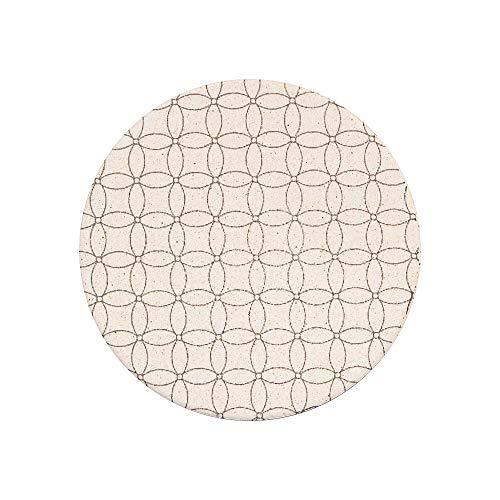 アンドエヌイー(&NE)陶器珪藻土コースター七宝NRS-033-SP