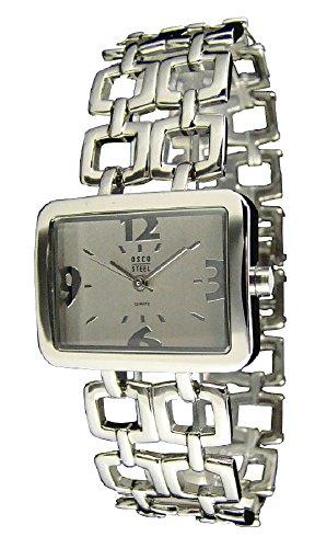 OSCO Steel Edelstahl Damen-Armbanduhr 4207 (Weiss)